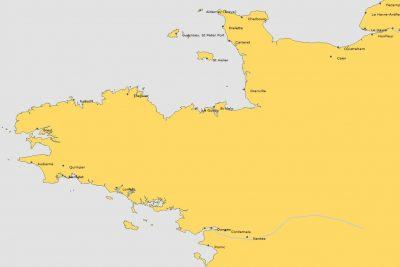 Franse kust Normandië en Bretagne